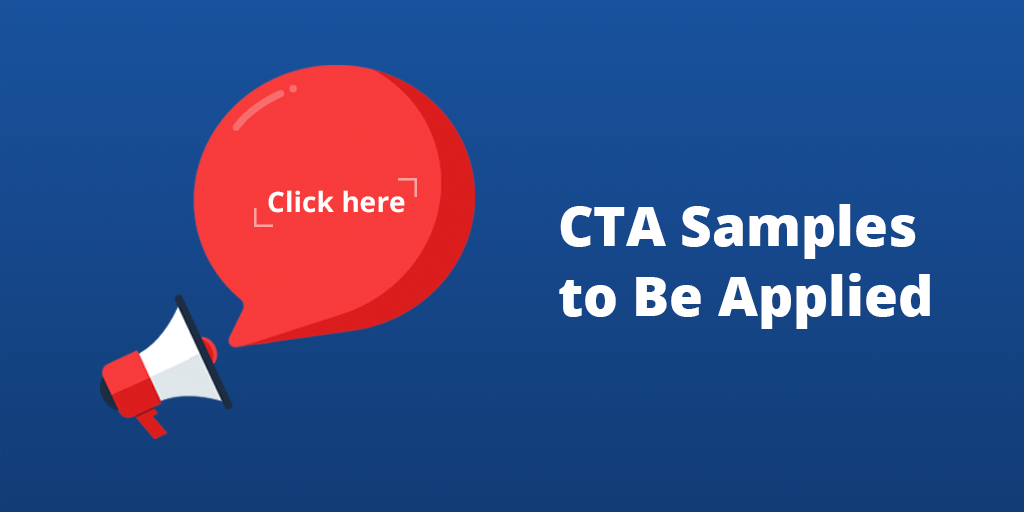 CTA Samples to Be Applied