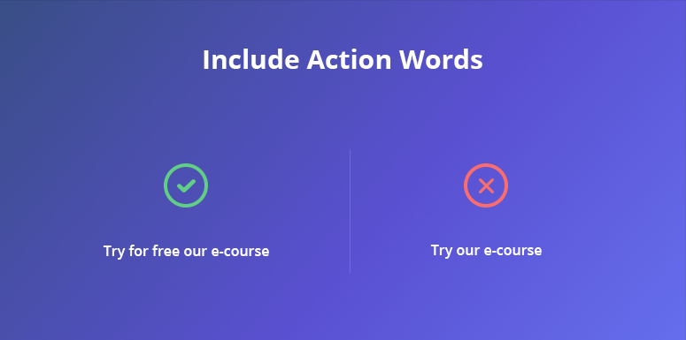 action words on CTA