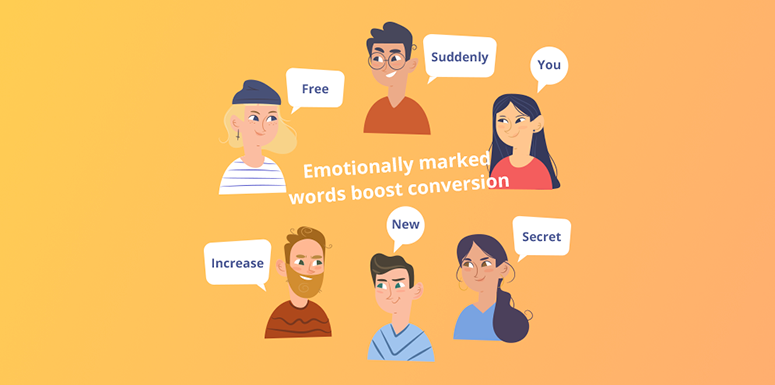 emotionally marked words boost conversion