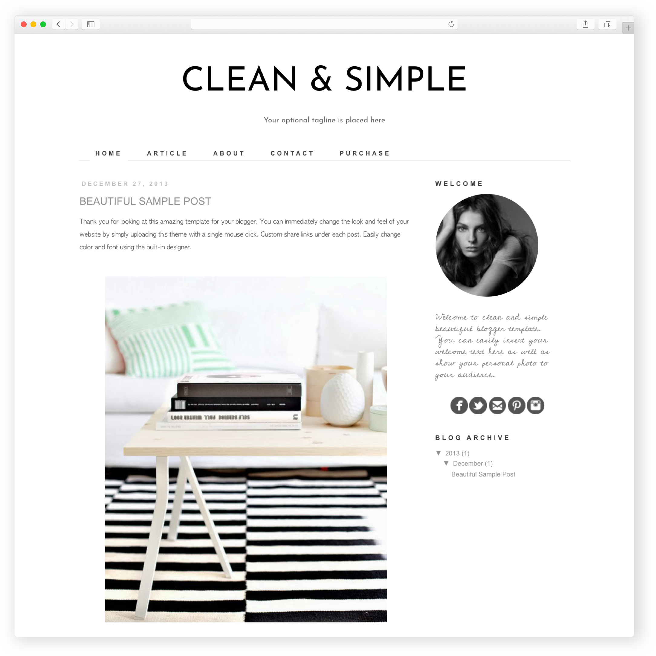 Free Responsive Blogger Template Clean and Simple