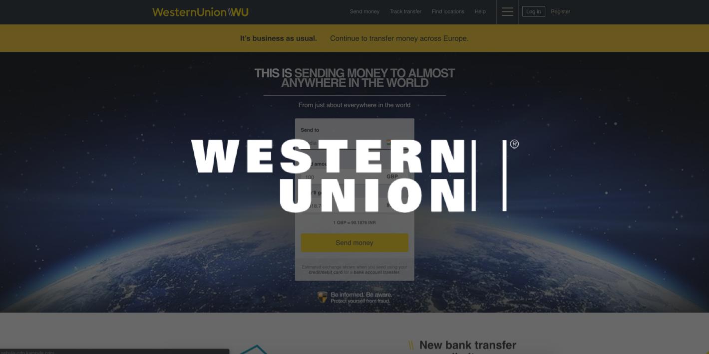 send money with Western Union