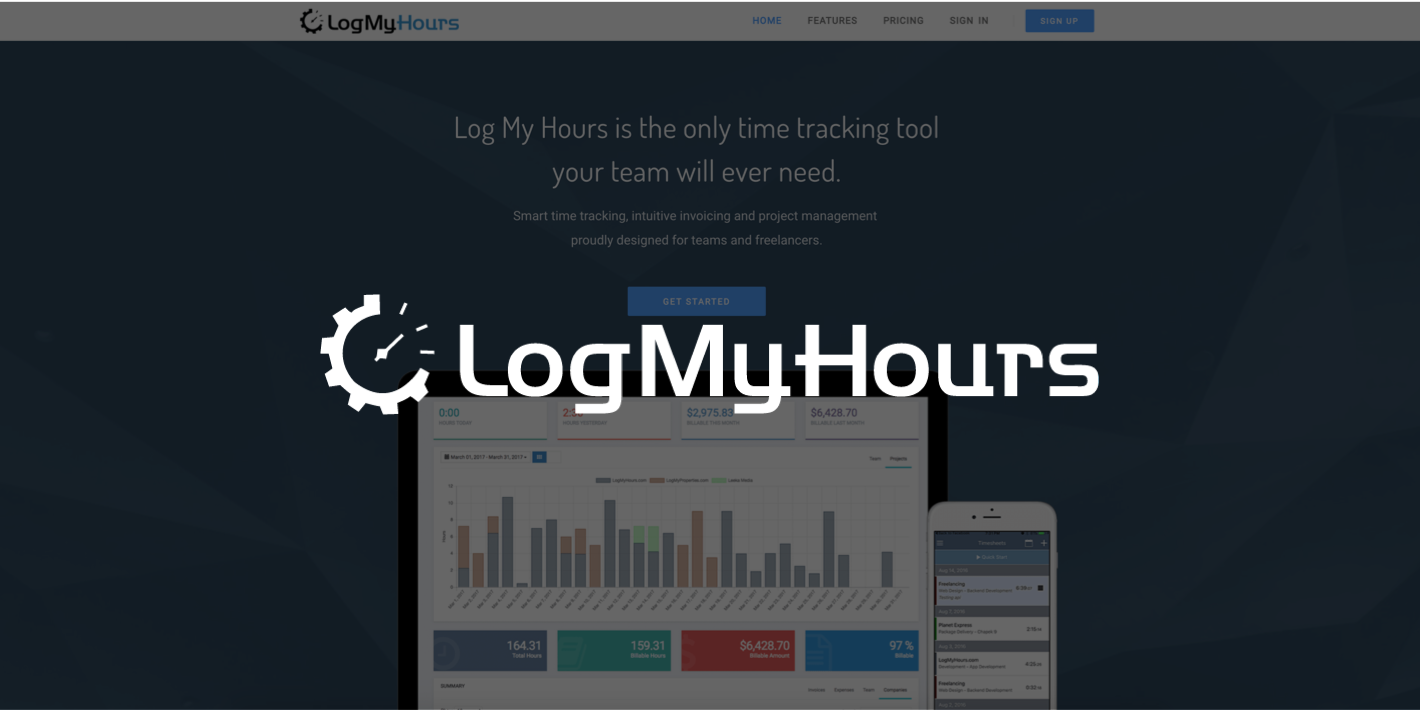 time tracking and invoicing with Log My Hours