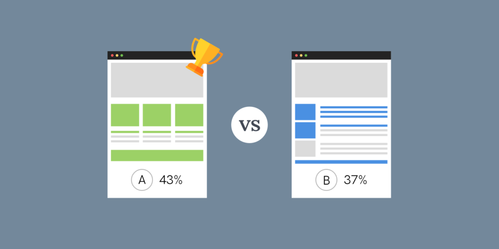 A/B Testing the Page