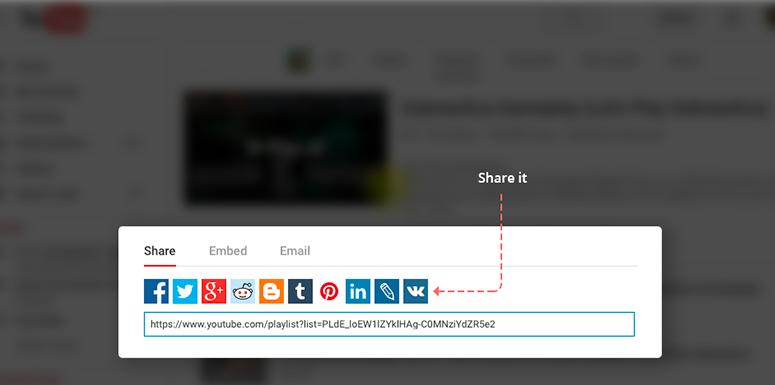 Youtube Marketing Strategy - Share on Social Media