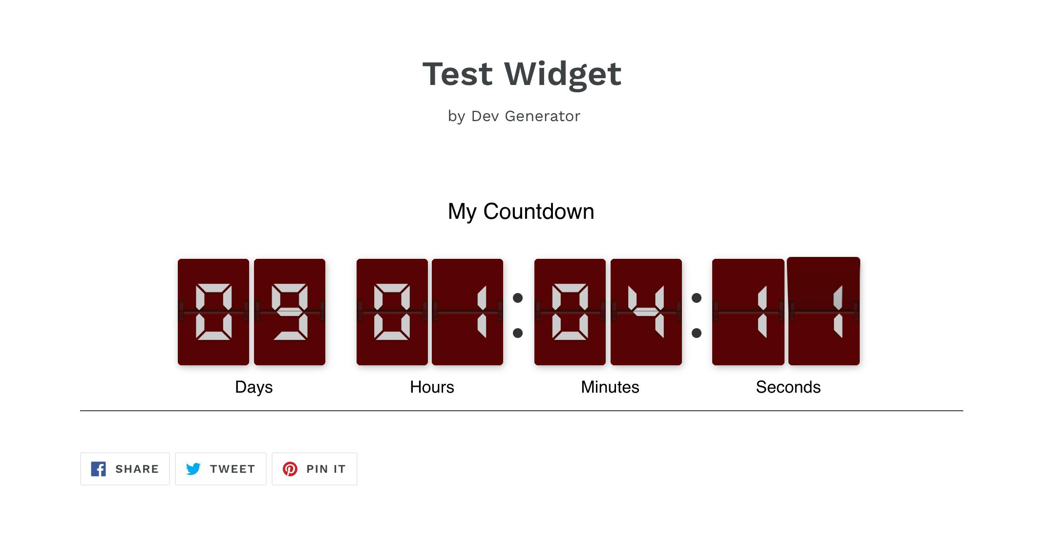 Countdown Timer Shopify as Post Demo