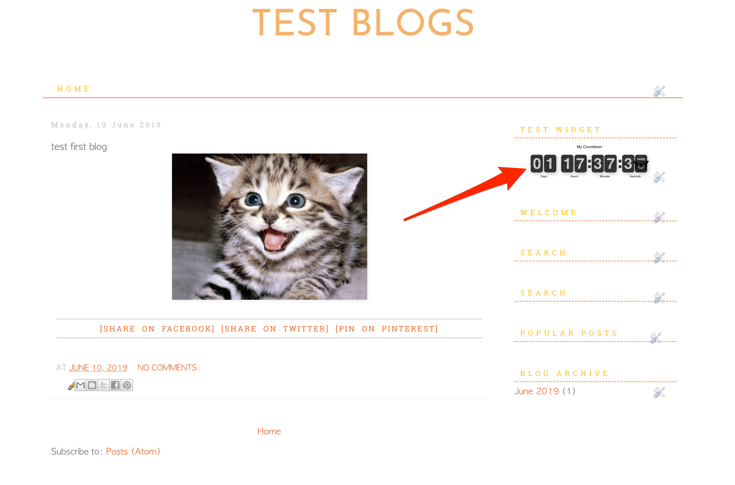 Countdown Timer Blogger Demo