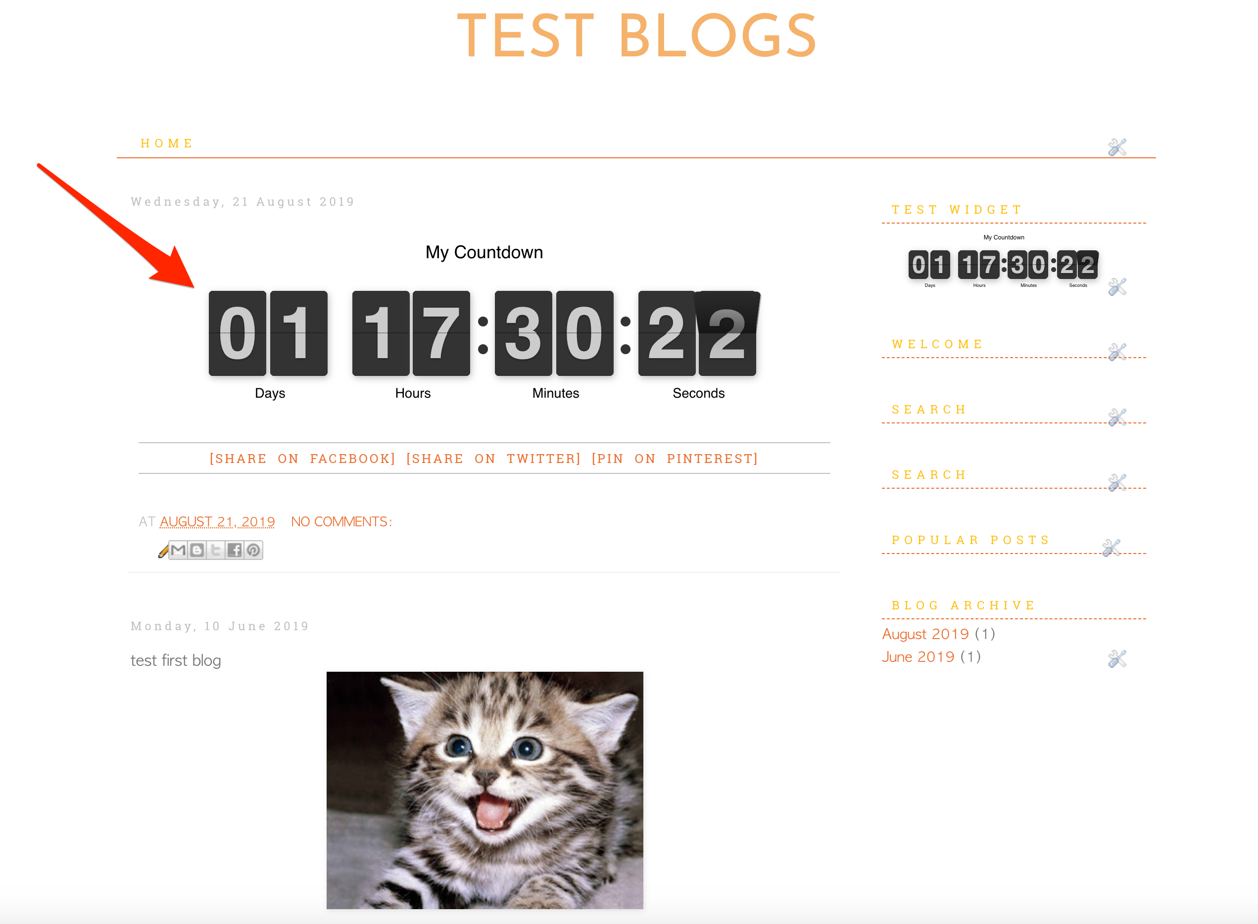 Countdown Timer for Blogger