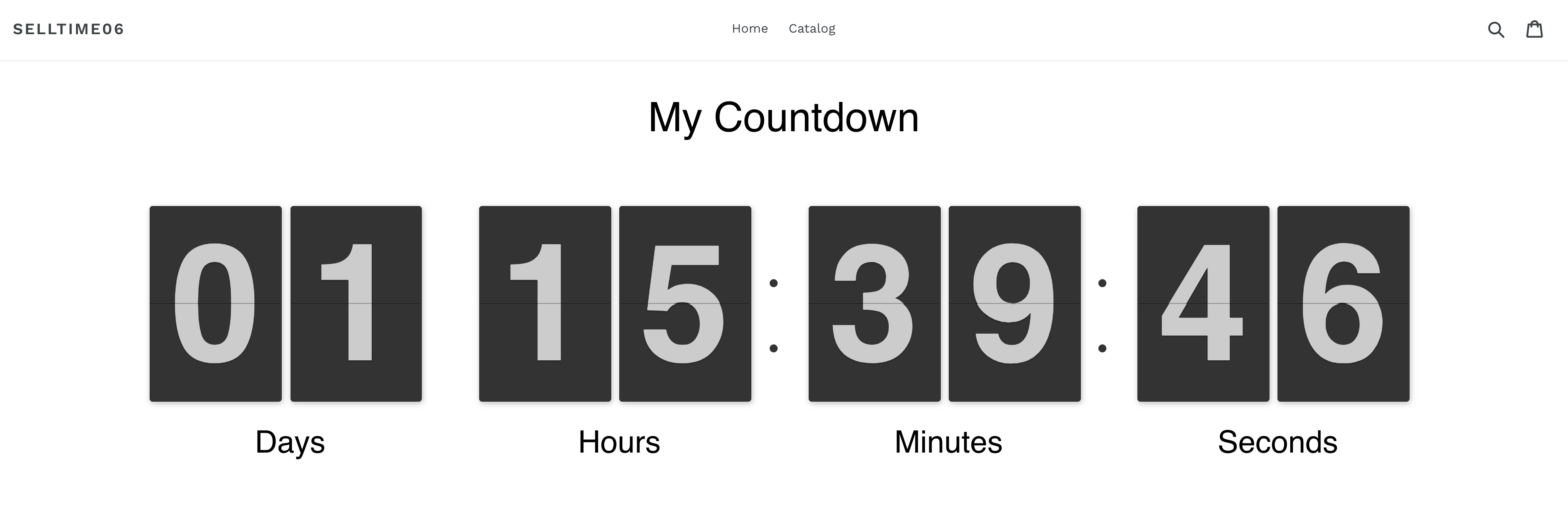 Countdown Timer for Shopify Demo
