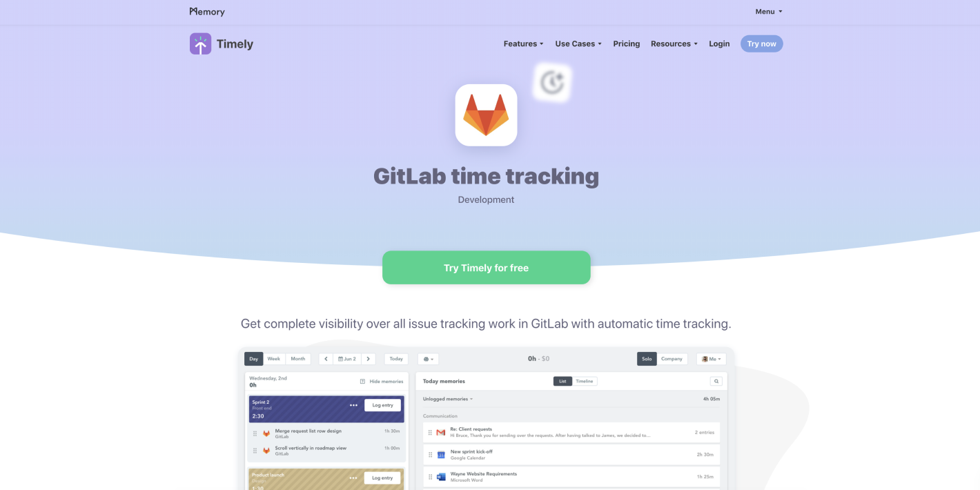 Timely and GitLab Integration
