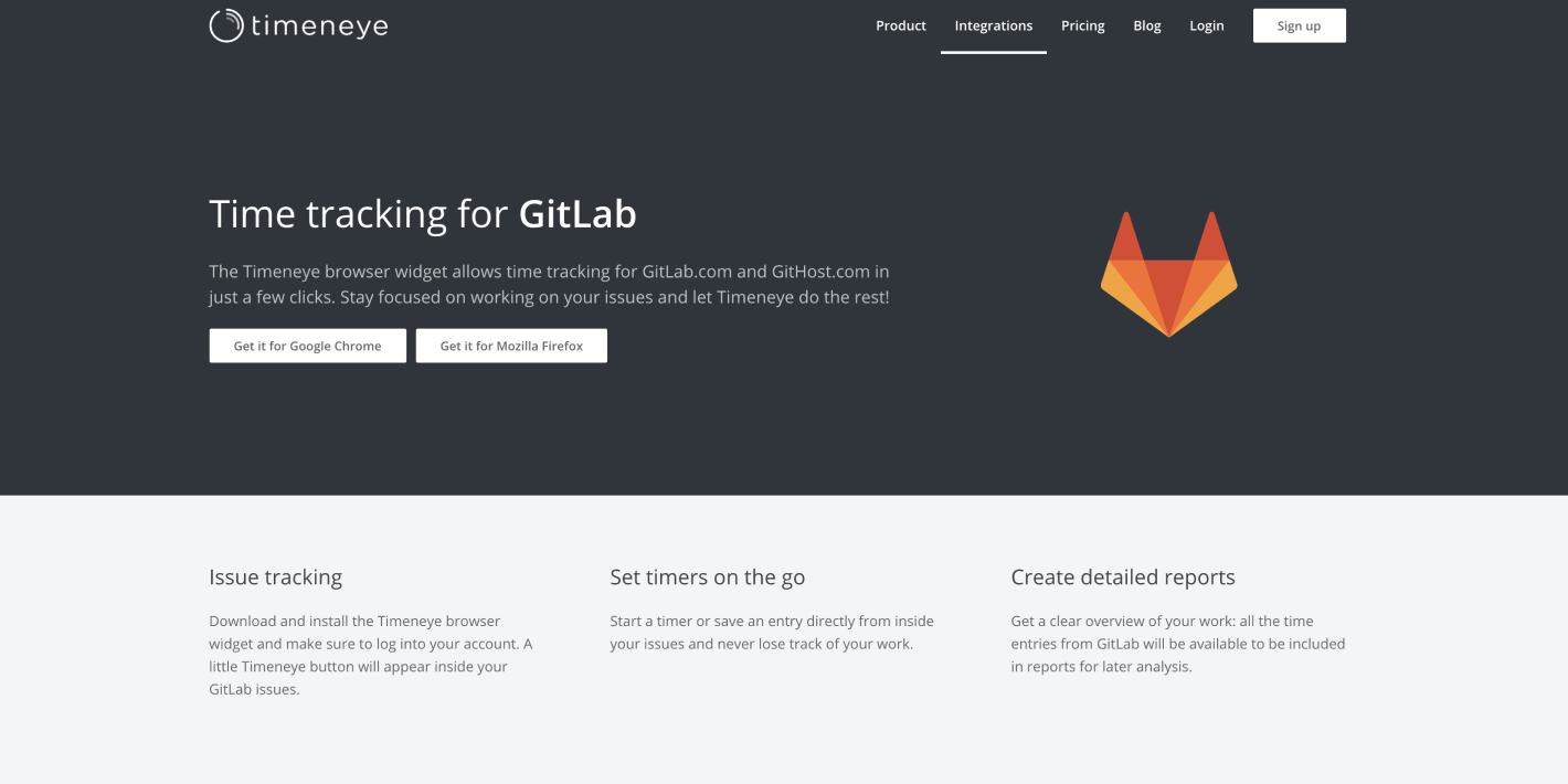 Timeneye and GitLab Integration