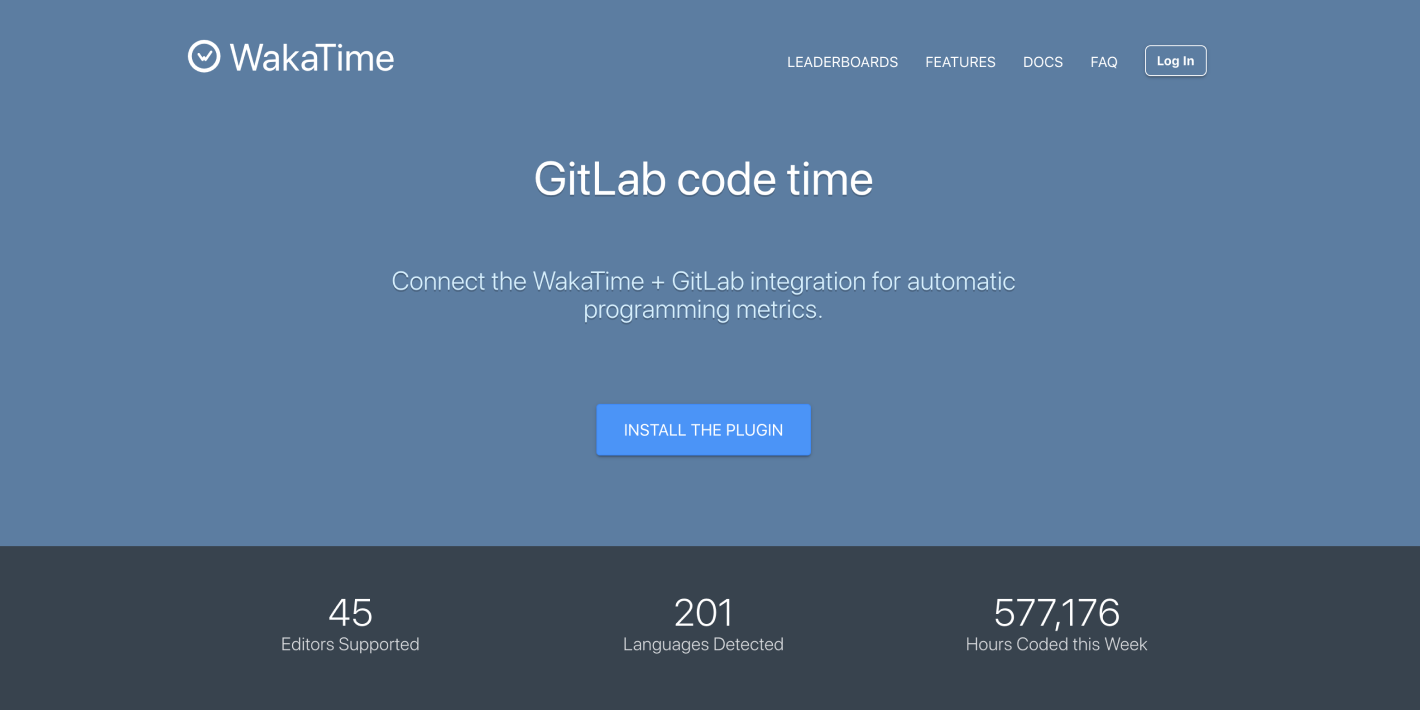 WakaTime and GitLab